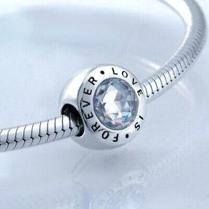 Authentic Pandora Signature Love Is Forever Charm